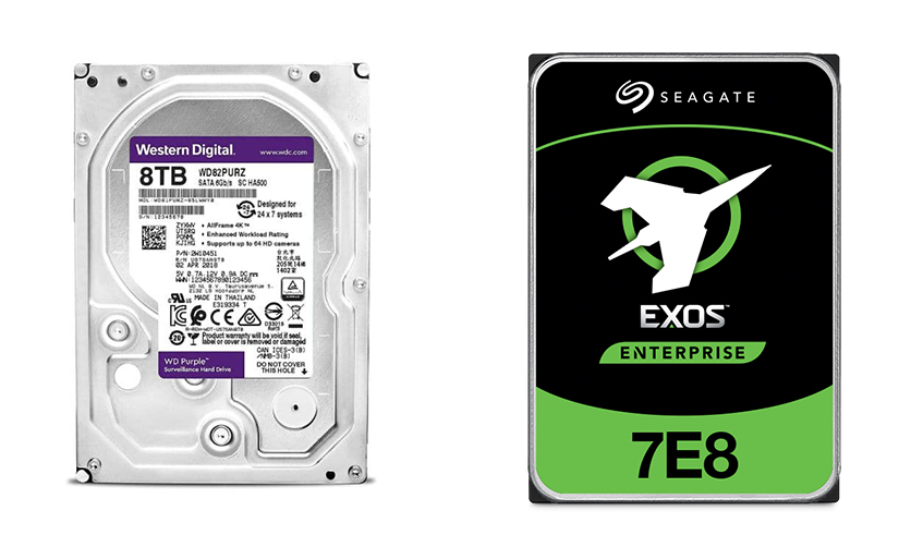 مقایسه هارد دیسک اینترنال Seagate Exos با هارد دیسک اینترنال WD Purple
