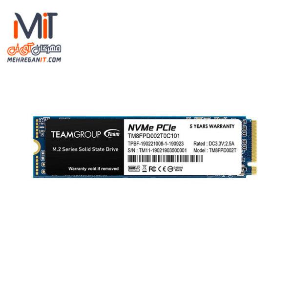 اس اس دی اینترنال TEAM GROUP مدل MP33 ظرفیت 2 ترابایت